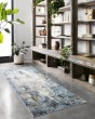 Product Image of Denim, Ivory Abstract Area Rug