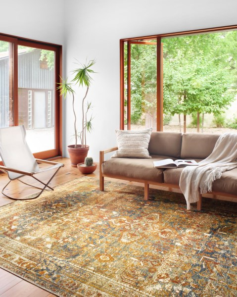 Lagoon, Spice Outdoor / Indoor Area Rug