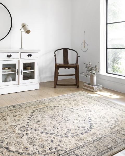 Natural, Light Grey Vintage / Overdyed Area Rug
