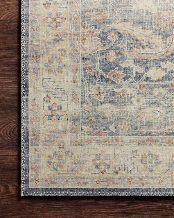 Denim, Tan (HTH-02) Vintage / Overdyed Area Rug