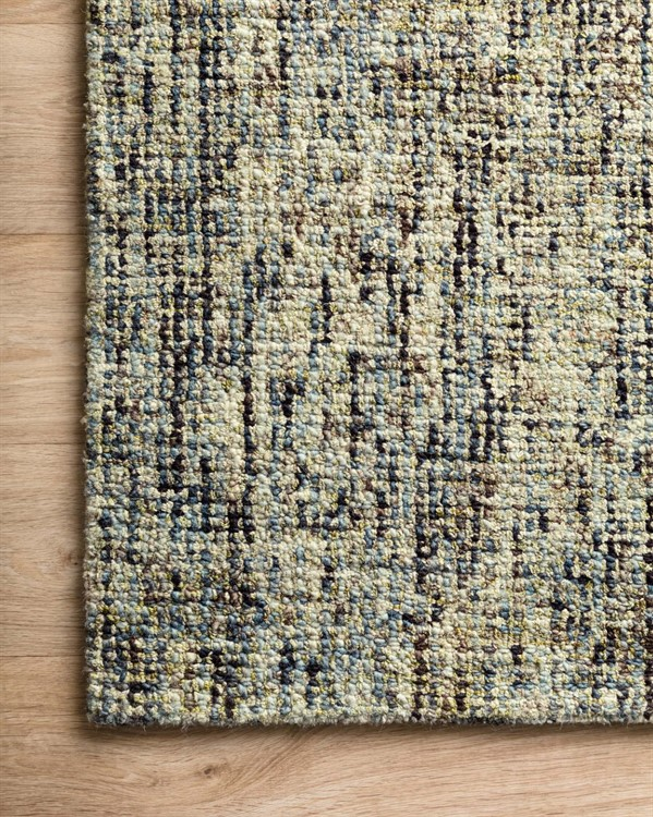 Blue, Green, Ivory Contemporary / Modern Area Rug