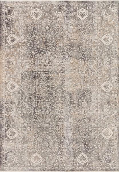 Grey, Ivory Vintage / Overdyed Area Rug