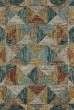Product Image of Geometric Blue, Spice, Gold Area Rug
