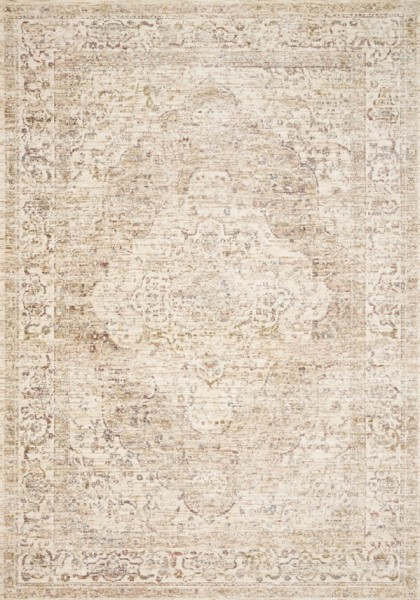 Ivory, Berry Vintage / Overdyed Area Rug