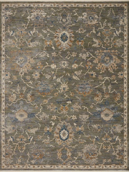 Sage, Gold Traditional / Oriental Area Rug