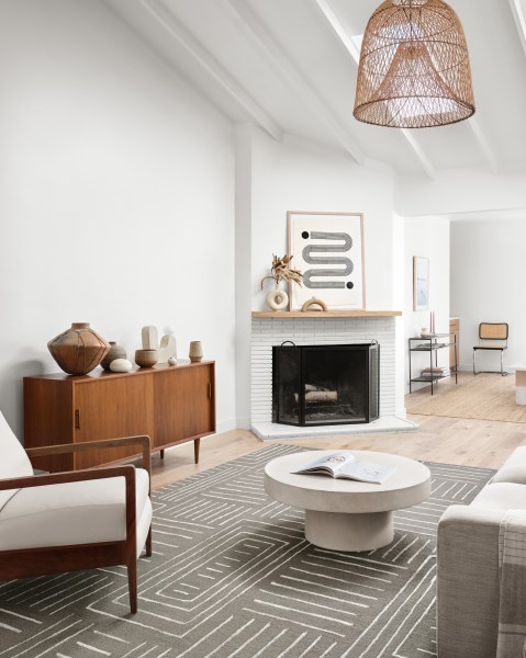 Grey, Mist Contemporary / Modern Area Rug