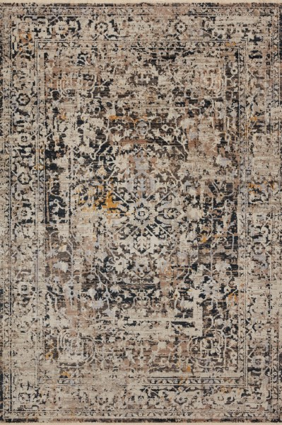 Charcoal, Taupe Vintage / Overdyed Area Rug