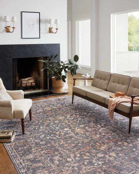 Graphite Vintage / Overdyed Area Rug