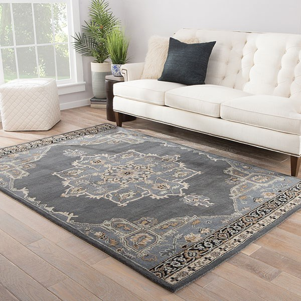 Gray, Green (PM-146) Traditional / Oriental Area Rug