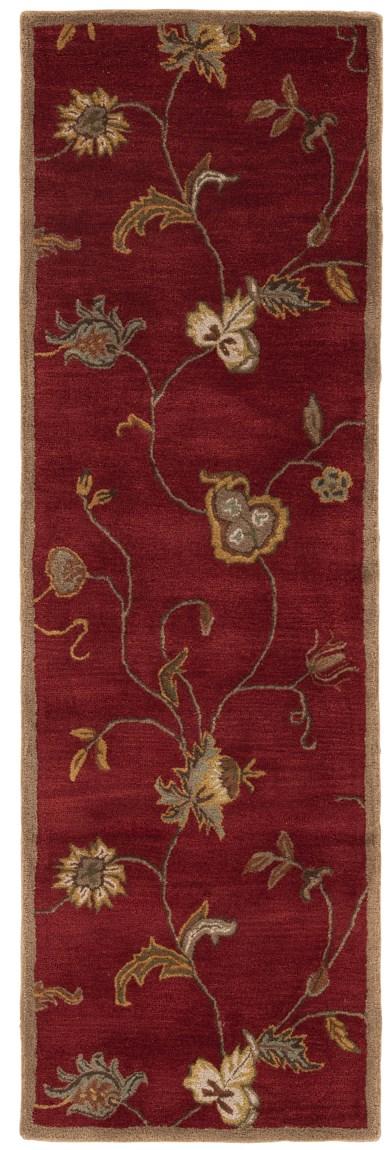 Red (PM-41) Floral / Botanical Area Rug