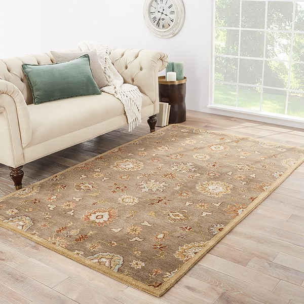 Gray Brown (PM-14) Traditional / Oriental Area Rug
