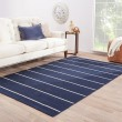 Product Image of Midieval Blue, White Ice (COH-19) Striped Area Rug