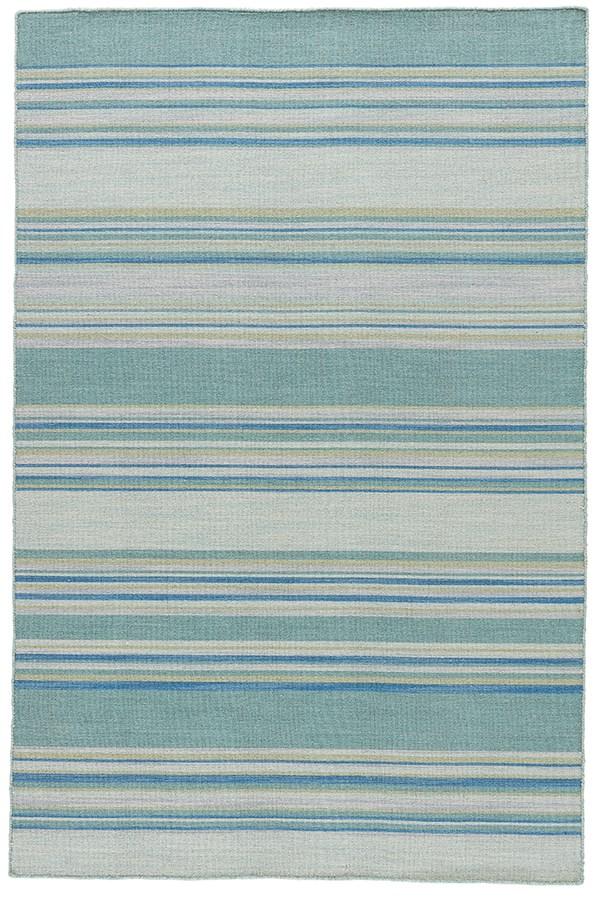 Porcelain Blue (COH-07) Striped Area Rug