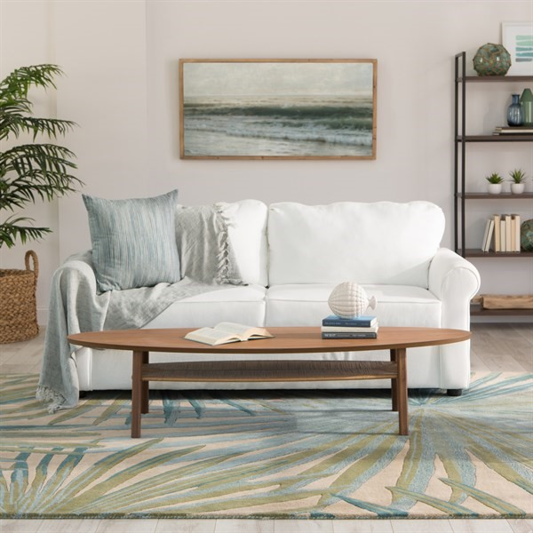 Blue, Green (COS-33) Floral / Botanical Area Rug