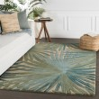 Product Image of Blue, Green (COS-33) Floral / Botanical Area Rug