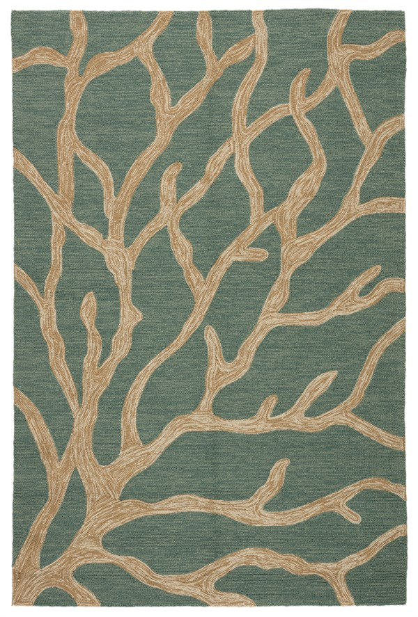 Frosty Green (COL-13) Beach / Nautical Area Rug