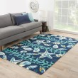 Product Image of Insignia Blue, Ivory (COL-43) Outdoor / Indoor Area Rug