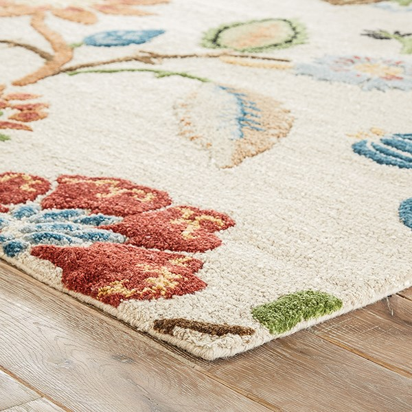 Antique White, Spice (BL-33) Floral / Botanical Area Rug
