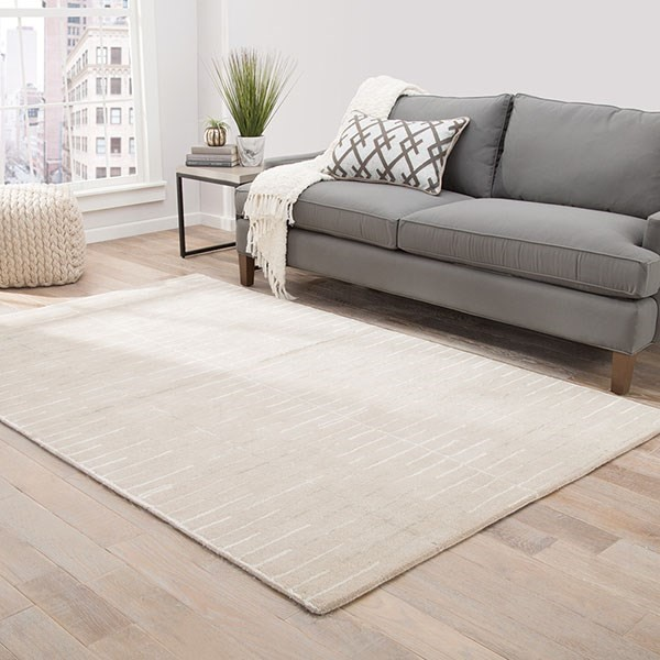 Beige, White (BL-156) Transitional Area Rug