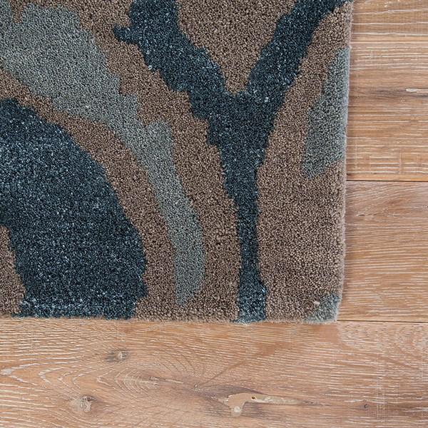 Blue, Tan (BL-137) Contemporary / Modern Area Rug
