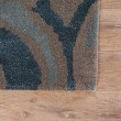 Product Image of Blue, Tan (BL-137) Contemporary / Modern Area Rug