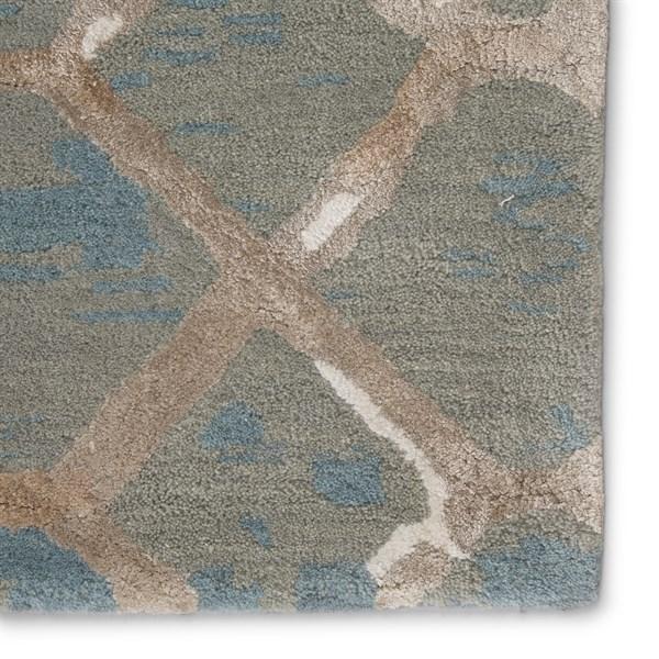 Blue, Cream, Tan (BL-157) Transitional Area Rug