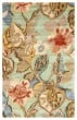 Product Image of Floral / Botanical Aqua Foam (BL-71) Area Rug