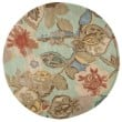 Product Image of Aqua Foam (BL-71) Floral / Botanical Area Rug