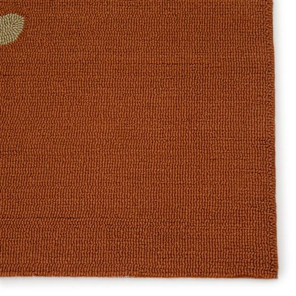 Orange, Gray (GD-01) Outdoor / Indoor Area Rug