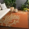 Product Image of Orange, Gray (GD-01) Outdoor / Indoor Area Rug