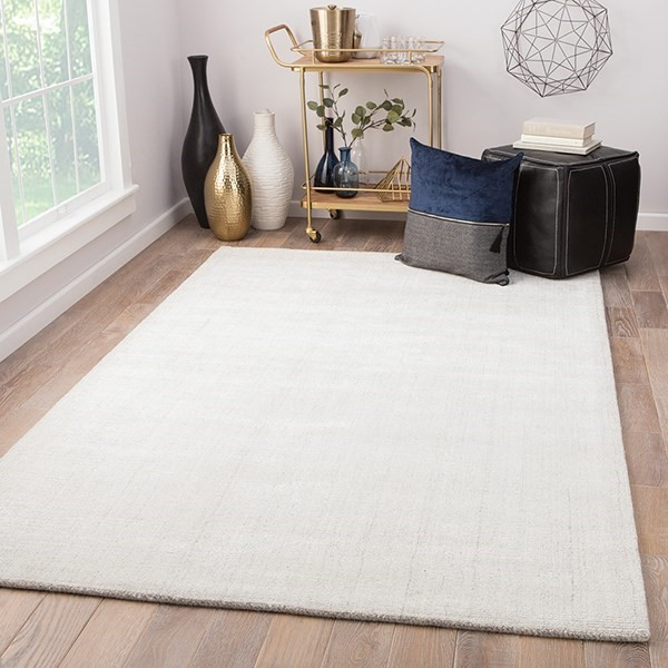 White, Gray (KT-39) Casual Area Rug