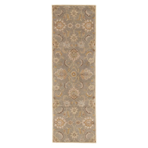 Silver Gray, Soft Gold (MY-14) Traditional / Oriental Area Rug