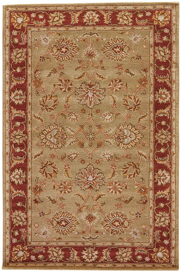 Kelp, Brick Red (MY-05) Traditional / Oriental Area Rug
