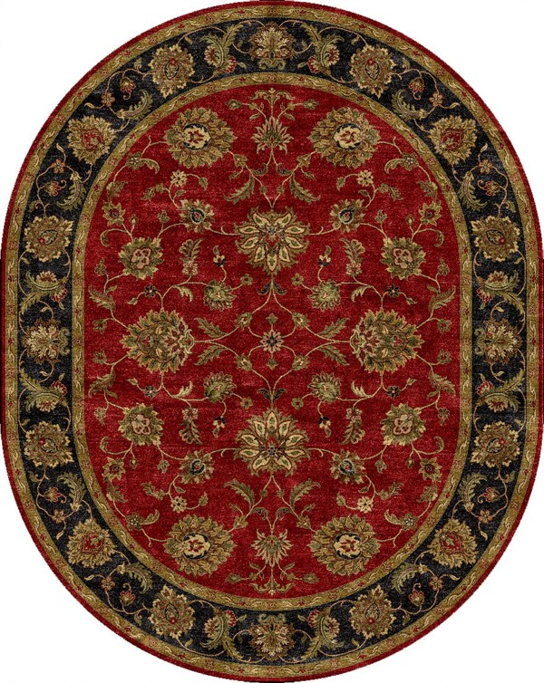 Red, Ebony (MY-08) Traditional / Oriental Area Rug