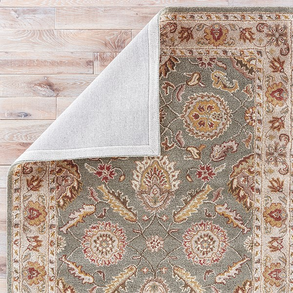 Sea Green, Light Gold (MY-06) Traditional / Oriental Area Rug