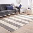 Product Image of Stone Gray, White Ice (PV-35) Striped Area Rug
