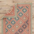 Product Image of Burnt Brick, Medium Blue (AT-01) Southwestern / Lodge Area Rug