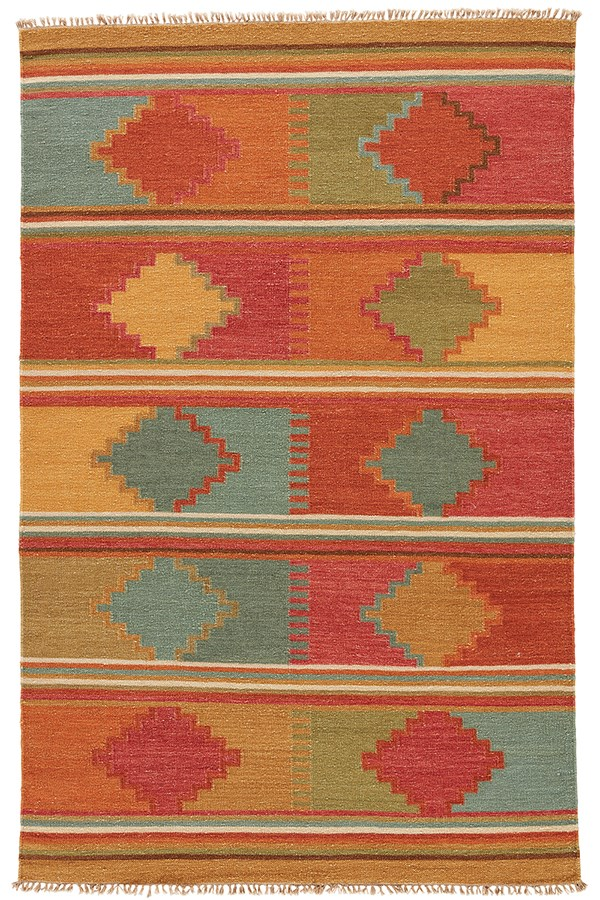Red Oxide (AT-04) Southwestern / Lodge Area Rug