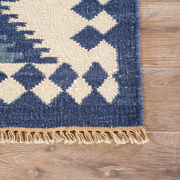 Blue, Gray (AT-10) Southwestern / Lodge Area Rug