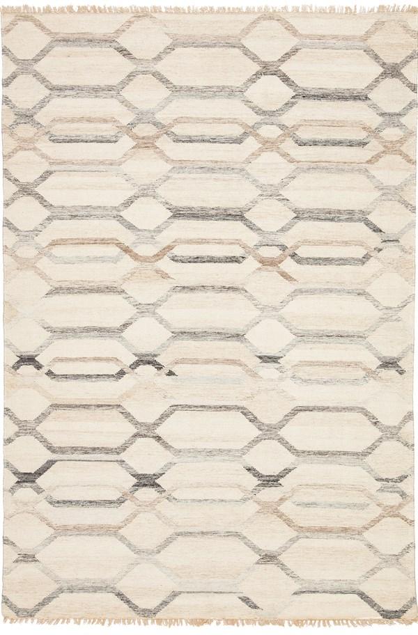 Light Gray, Ivory (AT-17) Geometric Area Rug