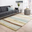 Product Image of Moss, Green, Blue (BQ-29) Striped Area Rug