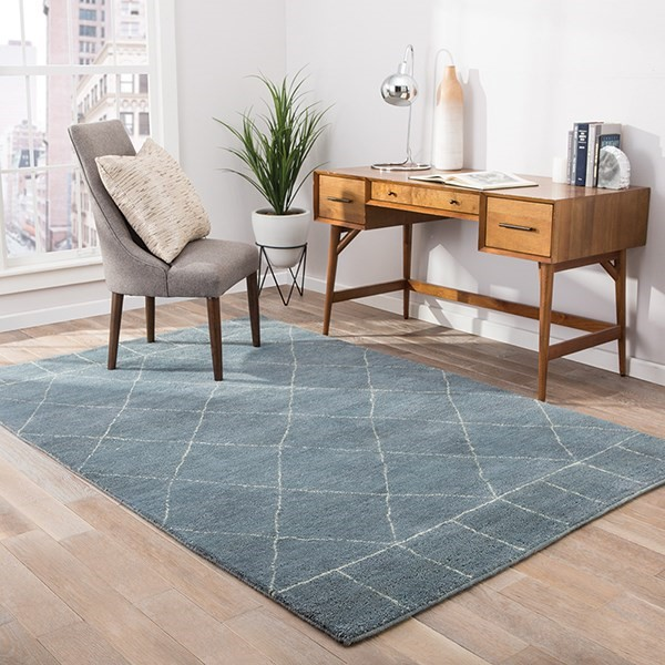 Pastel Blue, Antique White (NS-04) Contemporary / Modern Area Rug