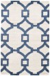 Product Image of Contemporary / Modern Cream, Dark Blue (CT-57) Area Rug