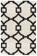 Product Image of Contemporary / Modern White, Black (CT-95) Area Rug