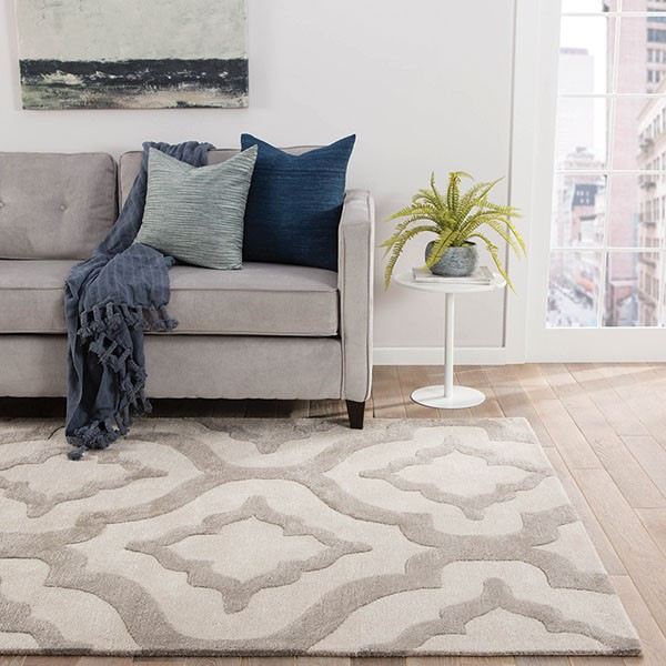 Whitecap Gray, Ivory (CT-78) Contemporary / Modern Area Rug