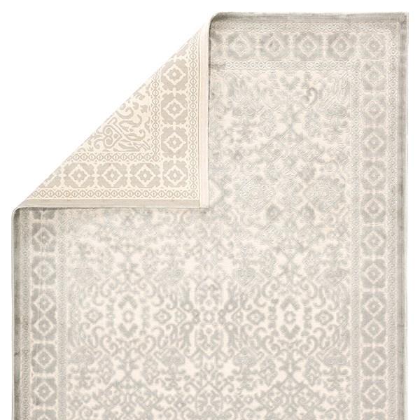 Silver, Cream (FB-165) Traditional / Oriental Area Rug