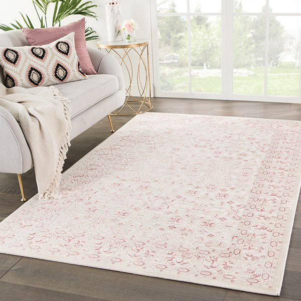 Ivory, Pink (FB-181) Traditional / Oriental Area Rug