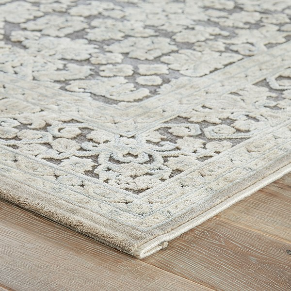 Gray (FB-08) Traditional / Oriental Area Rug