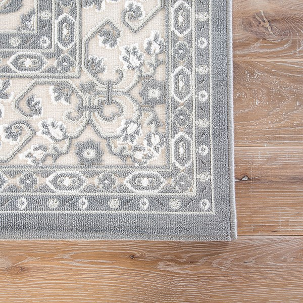 Ivory, Gray (FB-98) Traditional / Oriental Area Rug