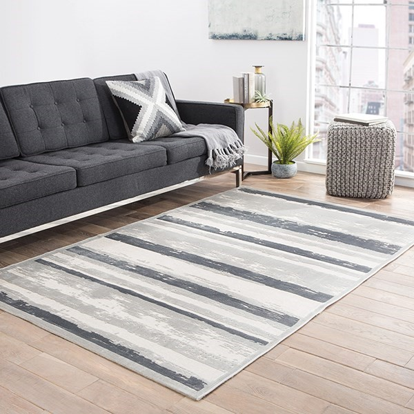 Ivory, Gray (FB-83) Transitional Area Rug